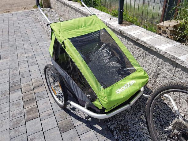 Przyczepka rowerowa dla dwójki dzieci