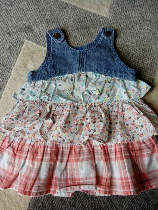 Zestaw, paka sukienek dziecięcych rozm. 74 (6-9 miesięcy), sukienka 74