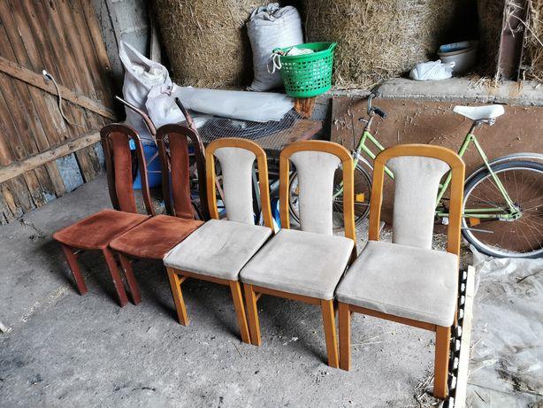 Krzesła 5 sztuk brąz i szare transport w okolicy