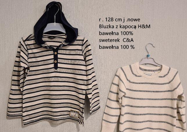 Bluzki polo koszulki spodnie koszuli bluzy Mayoral C&A H&M 128 cm