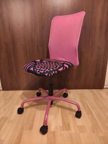 Krzesło biurkowe dziecięce różowe