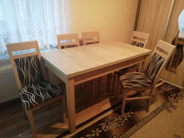 Stół rozsuwany + krzesła