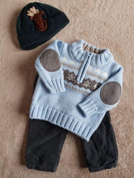 Zestaw dla chłopca C&A roz. 68 + czapka