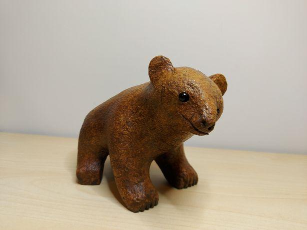 Niedźwiedź rzeźba, figurka - CARL ROOS / lata 50-te/ Szwecja Hammerdal