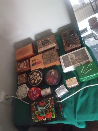 Коллекция шкатулок СССР, УССР, РСФСР ручной работы и фабричные