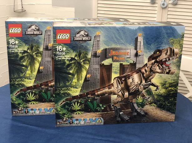 Lego 75936 LEGO Jurassic World Парк Юрского периода: ярость Ти-Рекса