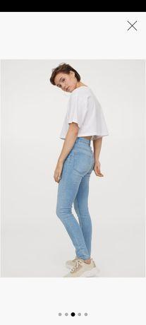 Jeansy skinny jak nowe - wysoki stan