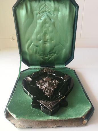 Cinzeiro mármore preto