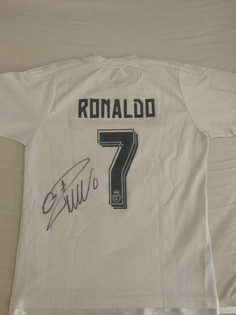 Camisola Real Madrid Autografada pelo Cristiano Ronaldo