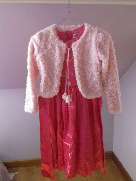 Sukienka balowo-wizytowa 10 lat (146cm) z bolerkiem