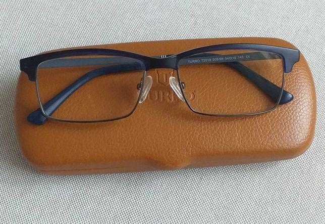 TURRO oprawki okulary korekcyjne NOWE granatowe unisex
