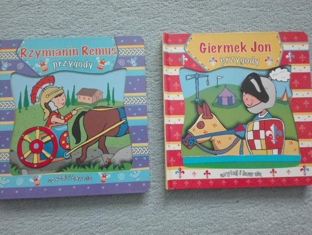 dwie super książeczki dla dzieci ruchome elementy