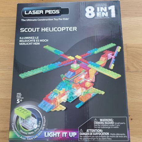 Świecące klocki laser pegs helikopter