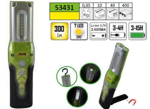 Lanterna Foco Gambiarra Portátil com 7 Leds 300 Lm JBM 53431