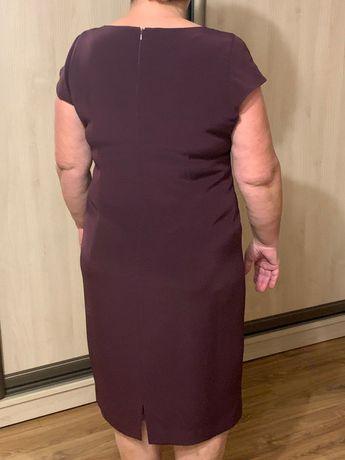 Sukienka kolor sliwka