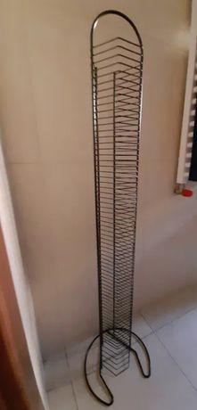 Stojak czarny na płyty CD (70 sztuk) z IKEI / IKEA