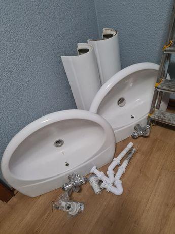 Umywalka Gala szer 70cm z kolumną