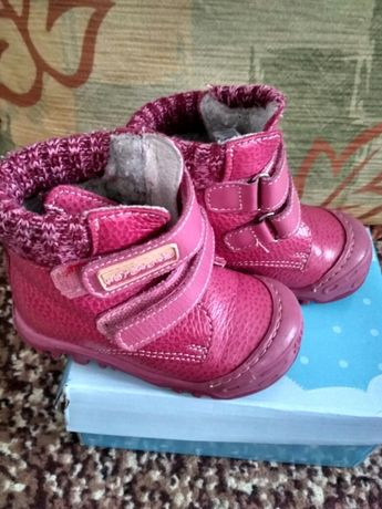Фирменные, кожаные ортопедические ботинки, 21 размер