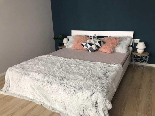 Белая Двуспальная Кровать Стиль 1,6*2,0 + Основание! Есть Другие Цвета
