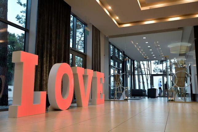 Napis LOVE 120cm zmiana kolorów, 70cm żarówki Kalisz Milicz Ostrzeszów