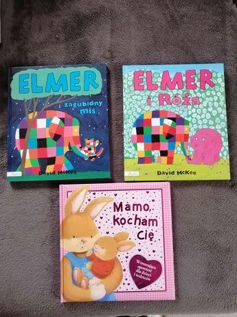 Zestaw książek Mamo kocham Cię Elmer i Róża Elmer i zagubiony miś
