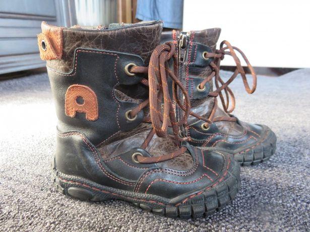 Skórzane ocieplane buty dziecięce rozmiar 23
