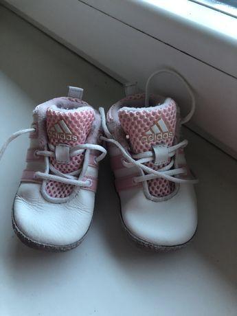 Buty niechodki buciki miękkie 19 adidas różowe 2 pary