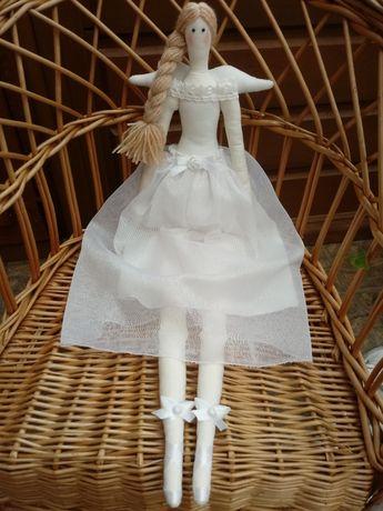 Lalka Tilda na chrzest lub komunię