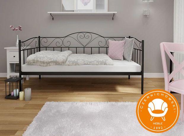 Łóżko Metalowe Kute Jednoosobowe + Stelaż - WYSYŁKA W 24 H