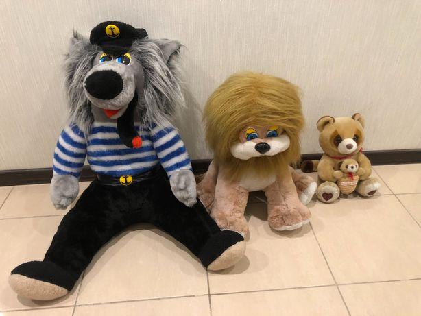 Мягкая игрушка плюшевая игрушка Волк Лев Медвежонок Мишка