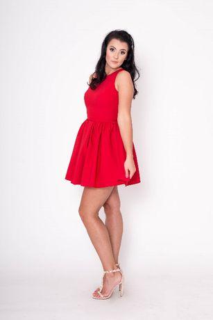 Sukienka Tola Czerwona Mini Wesele Rozkloszowana M Wesele Przyjecie 38