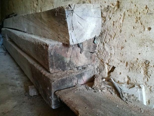 Traves/Vigas/Barrotes de Madeira de Eucalipto Centenária