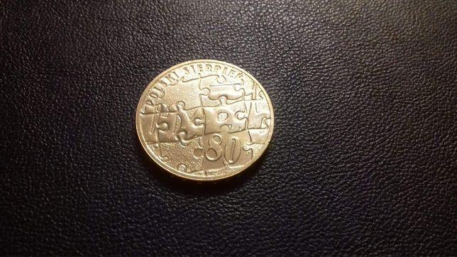 Moneta 2 złote Sierpień 80  z roku 2010