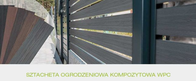 Kompozytowa deska/sztacheta ogrodzeniowa WPC 15x140mm, PROMOCJA !
