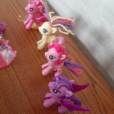 Kucyki My Little Pony do stylizacji +lusterko z kryształkami