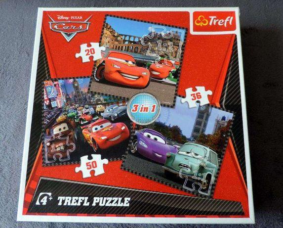 """Puzzle 3w1 """"Podróż wokół Europy"""" Auta Cars trefl"""