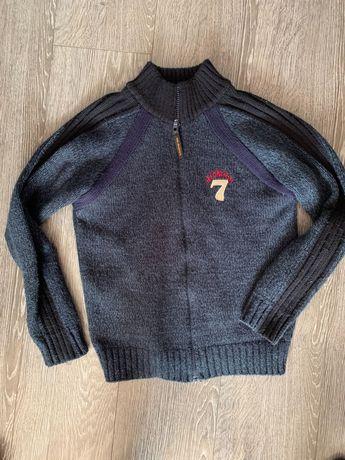 Granatowy sweter rozpinany 152 cm