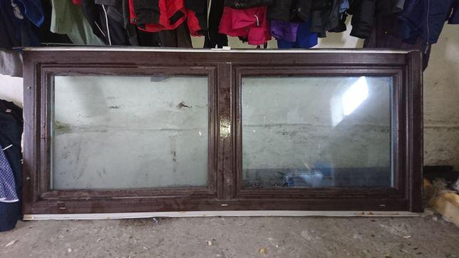 Okna dwuskrzydłowe z roletami