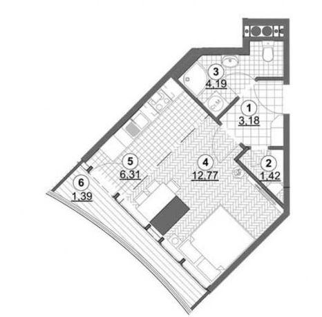 S Квартира-студия в новом доме с шикарным видом в Аркадии.Лучшая цена!