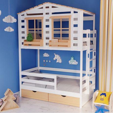 двухъярусная кровать Тифанни 1, кровать двухярусная, кровать домик