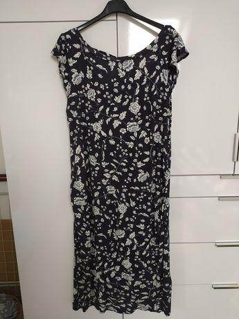 Sprzedam sukienkę h&m mama xl lekka, zwiewna, granatowa w kwiaty