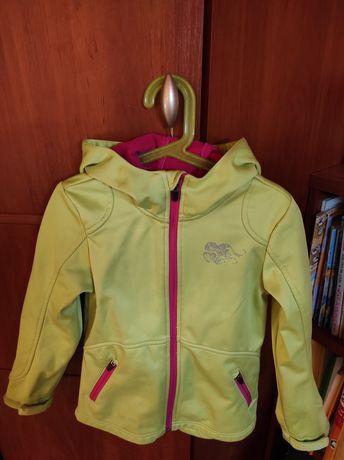 Softshell kurtka bluza 122/128 dziewczęca dla dziewczynki