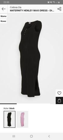 Sukienka ciążowa letnia dluga czarna zalando