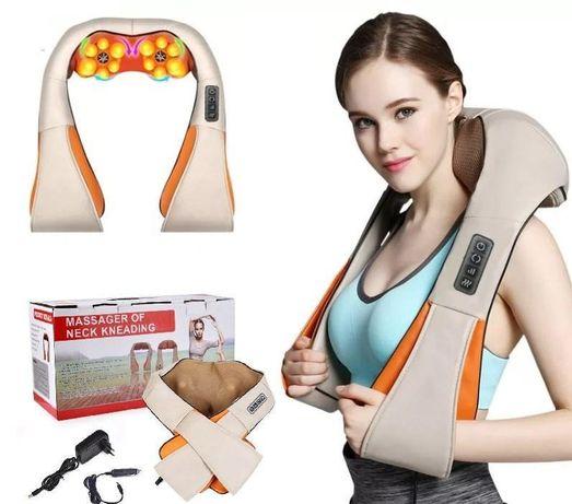 Массажер для шеи и спины роликовый массажер для авто массажная подушка