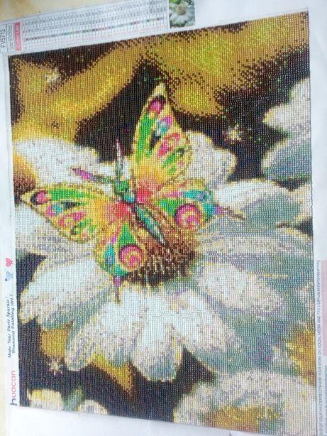 алмазная вышивка наборы полная выкладка РАЗМЕР 50 на 40