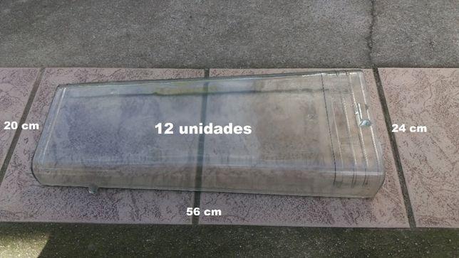 Telhas de Vidro Tipo Romana (12 unidades)