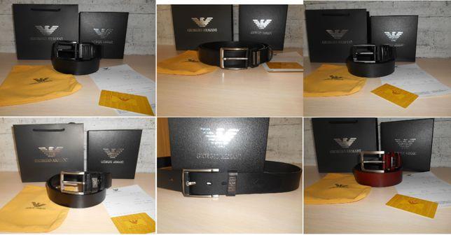 Мужской Ремень пояс Armani, кожа, Италия, Оригинал много моделей