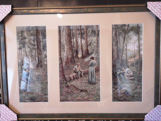 Картина триптих,вышитая крестиком, художник Фредерик Мак-кабин