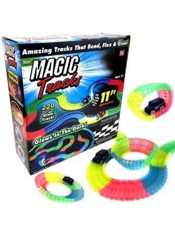Волшебная трасса конструктор Magic Tracks светящийся гибкий 220 детале