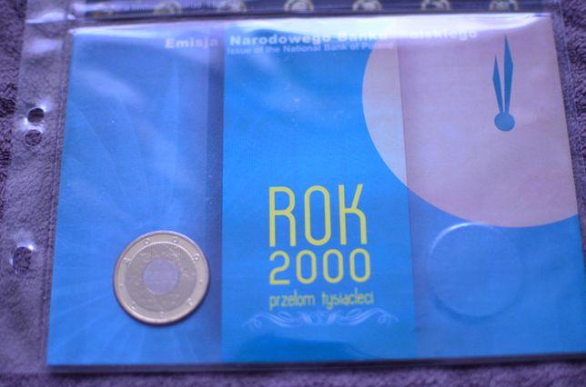 2zł Blister ROK 2000 przełom tysiącleci